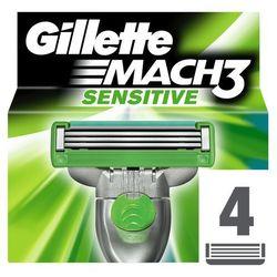 Gillette Mach 3 Sensitive zapasowe ostrza 4 szt. (Spare Blades) 4 szt.