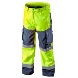 Spodnie robocze ocieplane SOFTSHELL żółte S NEO