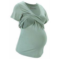 Shirt ciążowy i do karmienia piersią LENZING™ ECOVERO™ bonprix dymny zielony