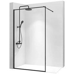 Ścianka prysznicowa 120 cm z czarnym profilem Bler Rea