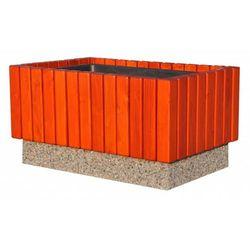 Donica betonowo-drewniana 87x56x46 cm