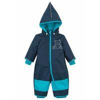 Kombinezony dziecięce, Kombinezon zimowy niemowlęcy bonprix ciemnoniebiesko-ciemnoturkusowy