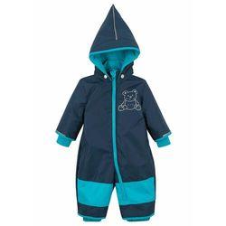 Kombinezon zimowy niemowlęcy bonprix ciemnoniebiesko-ciemnoturkusowy