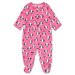 Carter's GIRL PENGUIN PRINT BABY Śpioszki pink