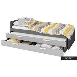 SELSEY Łóżko młodzieżowe Taratam 90x200 cm z wyborem łóżka dolnego i szuflady