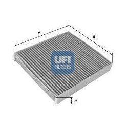 Filtr, wentylacja przestrzeni pasażerskiej UFI 54.233.00