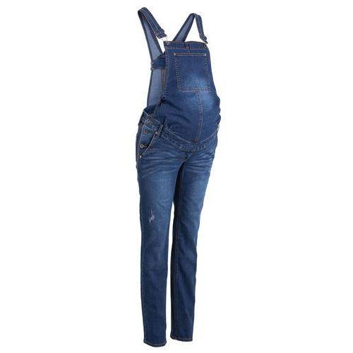 """Spodnie ciążowe, Ogrodniczki dżinsowe ciążowe STRAIGHT bonprix niebieski """"stone"""""""