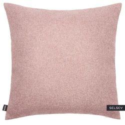 SELSEY Poszewka na poduszkę Rino 45x45 cm jasnoróżowa