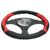 Pokrowce na kierownice, Pokrowiec na kierownicę 37-39,5 Luxury czerwony