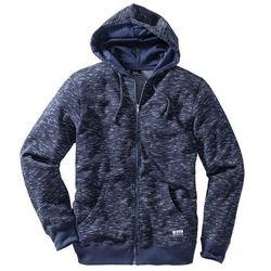 Bluza rozpinana melanżowa z kapturem, Regular Fit bonprix ciemnoniebieski melanż