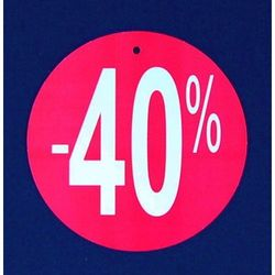 Komplet (100szt.) metek,,-40%'' do metkownicy igłowej