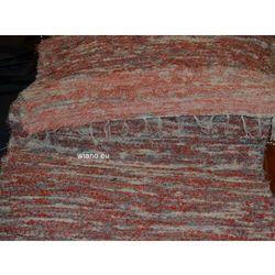 Chodnik bawełniany, ręcznie tkany, pomarańczowo-szaro-ecru 65x150
