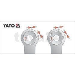 Klucz oczkowy odgięty z polerowaną główką 24x27 mm Yato YT-0392 - ZYSKAJ RABAT 30 ZŁ