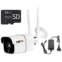 Kamery przemysłowe, LV-IP26W z pamięcią microSD 64GB bezprzewodowa kamera Wifi sieciowa KEEYO 2Mpx IR 20m