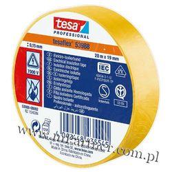 Taśma izolacyjna Tesa PCV 53988 19mm x 20m w folii żółta