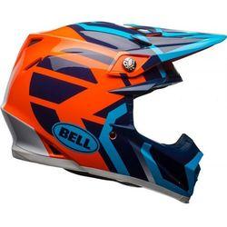 BELL MOTO-9 MIPS DISTRICT BLUE/ORANGE Kask Off-road