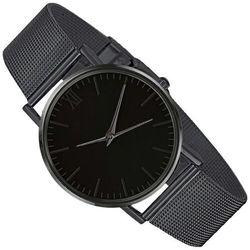 Zegarek damski klasyczny czarny bransoleta mesh