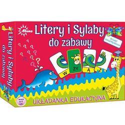 Litery i sylaby do zabawy: Układanka Edukacyjna do nauki czytania