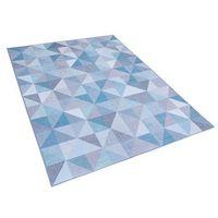 Dywany, Dywan niebiesko-szary 140 x 200 cm krótkowłosy KARTEPE