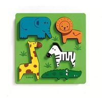 Puzzle, Puzzle drewniane Układanka ZOO