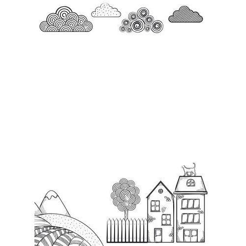 Tablice szkolne, Tablica suchościeralna dla dzieci domki 494