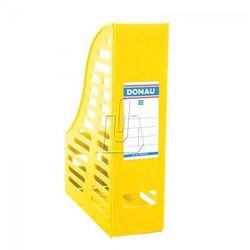 Pojemnik na dokumenty (czasopisma) Donau A4 żółty składany ażur (7464001PL-11)