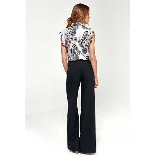 Bluzki, Bluzka z krótkim rękawem i falbanami - wzór - B88
