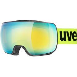 UVEX Compact FM Gogle, black mat/fullmirror orange 2019 Gogle narciarskie