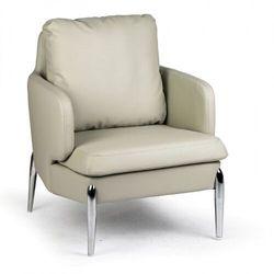 Fotel skórzany LUXOR, szary