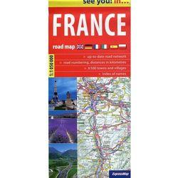 ExpressMap Francja 1:1 050 000 see you! in samochodowa (opr. broszurowa)