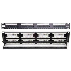 """Patch Panel do szaf rack 19"""" Pusty 24 Gniazda CZARNY RAL 9005 19-0016C"""