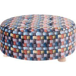 Pufa bawełniana, siedzisko, podnóżek, kolorowy - 52 x 22 cm