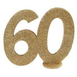 Dekoracja stołu Sześćdziesiątka złota 60-tka - 1 szt.