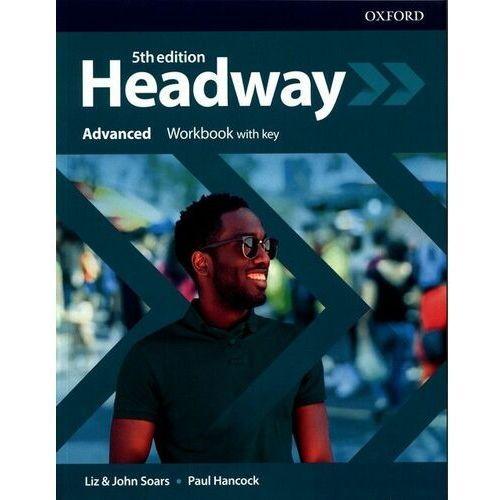 Książki do nauki języka, Headway 5E Advanced WB + key OXFORD (opr. broszurowa)