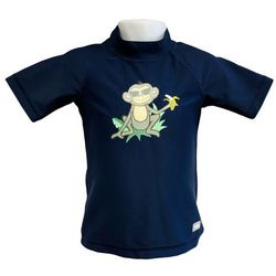 Koszulka kąpielowa bluzka dzieci 130cm filtrem UV50+ - Navy Jungle \ 130cm