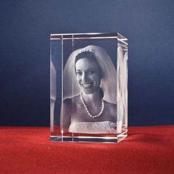 Zdjęcie 2.5D w krysztale • GRAWER 3D laserem WEWNĄTRZ szkła