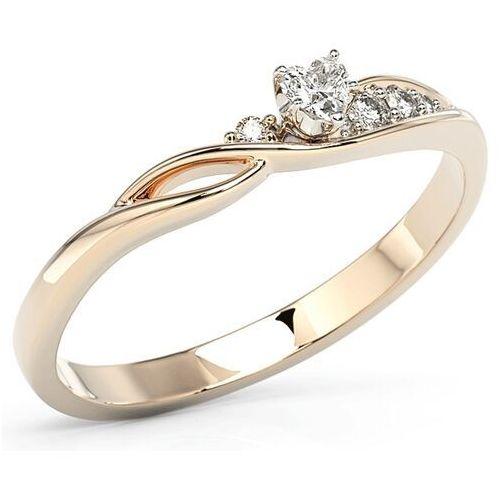 Pierścionki i obrączki, Pierścionek z różowego złota z cyrkoniami Swarovski BP-81P-C - Różowe \ Cyrkonia