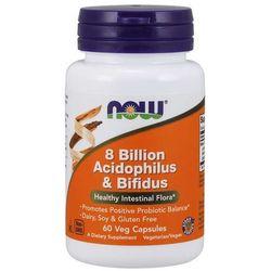 Now Foods Probiotyk Acidophilus i Bifidus 8 miliardów 60 kapsułek - 60 kapsułek
