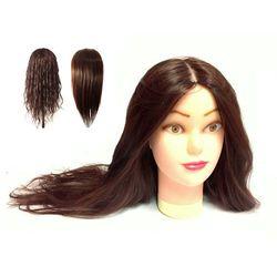 Główka Fryzjerska Głowa Treningowa Fiona 60cm 60%ludzki
