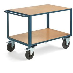 Wózek warsztatowy SEDAN, z hamulcem, 2 koła skrętne, 600 kg, 1100x700 mm