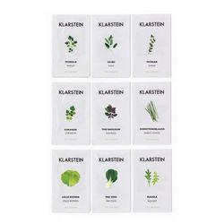Klarstein Growlt Seeds Europe 9 paczek nasion: 3 x Azja 3 x Europa 3 x sałata