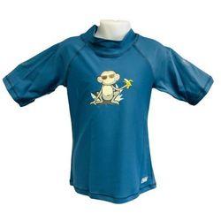 Koszulka kąpielowa bluzka dzieci 92cm filtrem UV50+ - Petrol Jungle \ 92cm