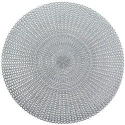Podkładka ochronna, dekoracyjna mata na stół - kolor srebrny, Ø 41 cm, ZELLER