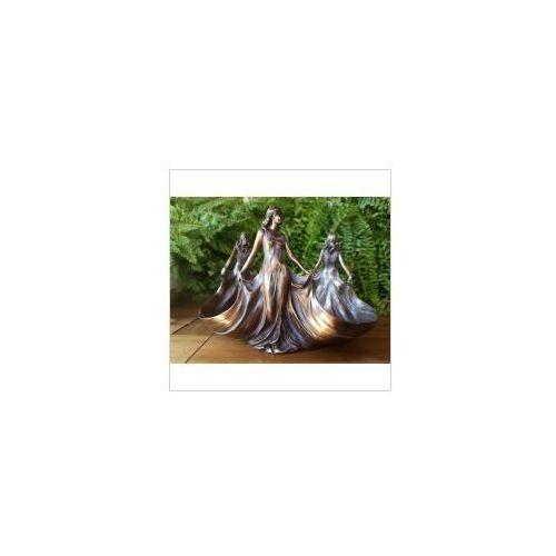 Rzeźby i figurki, SECESYJNA PATERA TRZY LADY VERONESE (AN10399B4)