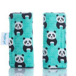 Bajbi ochraniacze na pasy podwójne pandy/grafit
