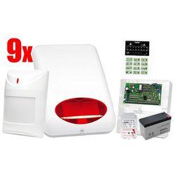 System alarmowy SATEL: Centrala CA-10 P, Manipulator CA-10 KLED-S, 8 x Czujka, Sygnalizator SPL-5010 R, Akcesoria