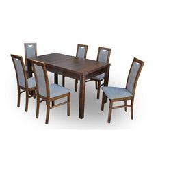 """Zestaw """"DIVA"""" stół + 6 krzeseł - stalowy"""