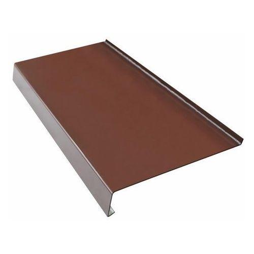 Parapety, Parapet zewnętrzny stalowy Fola 25 x 120 cm brązowy