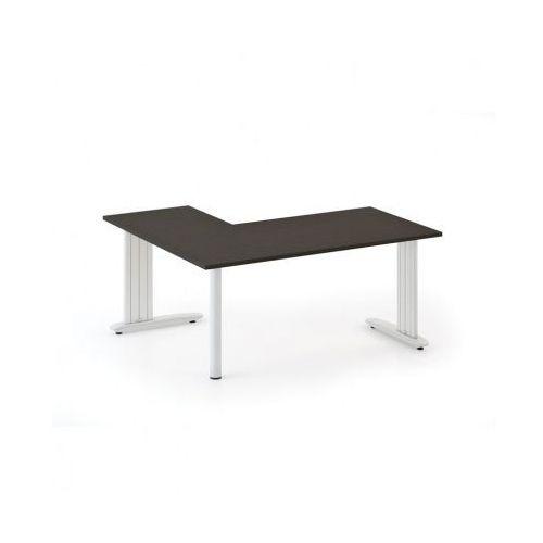Biurka i stoliki, Biurko Flexible L 1800 x 1400 mm, wenge