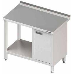 Stół przyścienny z szafką z drzwiami skrzydłowymi po prawej stronie i półką 800x600x850 mm | STALGAST, 980516080